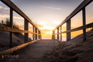 Strand Westkapelle fotografie canvas, dibond
